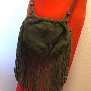 Urban Outfitters 100% suede fringe purse